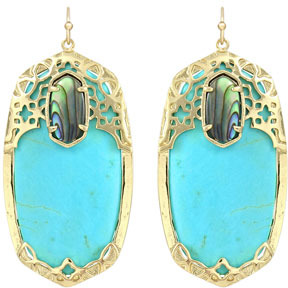 Kendra Scott Deva Earrings, Turquoise