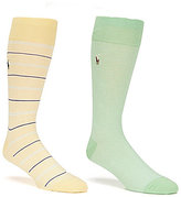 Polo Ralph Lauren Big & Tall Oxford/Striped Crew Dress Socks 2-Pack