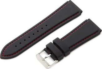 Hadley Roma Hadley-Roma Men's MS3345RAG180 18mm Genuine Silicone Diver Sport Watch Strap