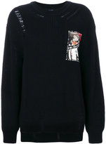 Sjyp patch knitted sweater