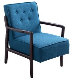 Cordovano Armchair Ebern Designs Upholstery Color: Light Gray