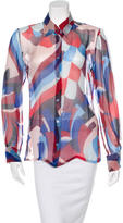 Missoni Printed Silk Button-Up Top