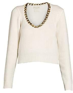 Bottega Veneta Women's Brushed Wool Chain Scoopneck Sweater