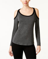 Thalia Sodi Colorblocked Cold-Shoulder Top, Only at Macy's