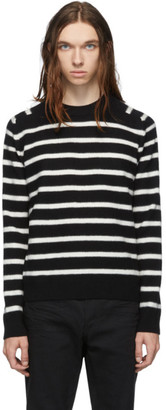 Saint Laurent Black Felted Sailor Sweater