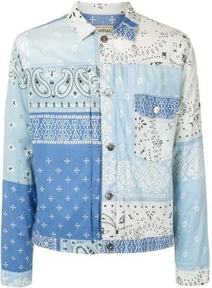 KAPITAL Gauze Bandana patchwork shirt