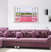 YU&XIN-home Home Decor gift leave the window view creative 3D wall idyllic sofa in the living room TV bedroom wall posters (flowers) (60*90cm)-YU&XIN