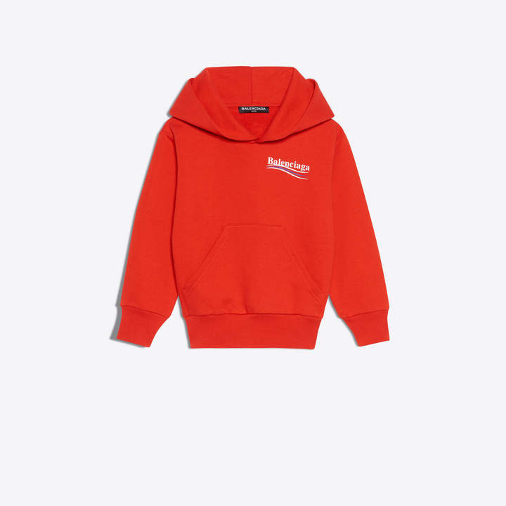 Balenciaga Hoodie sweater with tricolor logo printed at chest