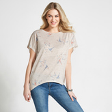 Apricot Cream Coral & Yellow Birds Print T-Shirt