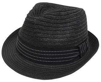 Boardwalk Style Women's Fedoras BLACK - Black Ribbon-Trim Fedora