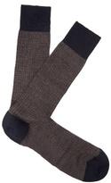 Pantherella Finsbury Herringbone-knit Merino-blend Socks
