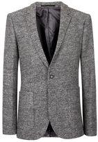 Topman Grey Textured Skinny Fit Blazer