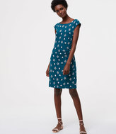 LOFT Petite Petaled Side Shirred Dress