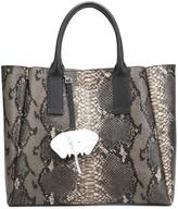 Christian Siriano snakeskin effect tote