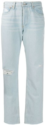 Rag & Bone Rosa distressed mid-rise jeans