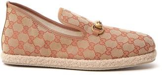 Gucci GG Monogram Print Loafers