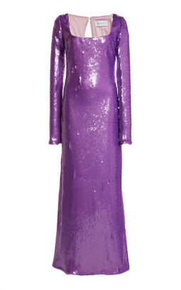 NERVI Olivia Sequined-Chiffon Gown