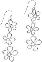 JCPenney SILVER REFLECTIONS Silver Plated Triple-Flower Drop Earrings