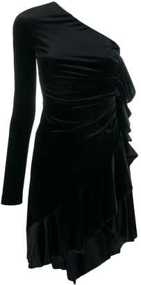 Philosophy di Lorenzo Serafini one-shoulder velvet dress