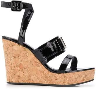 Philipp Plein black patent sandals