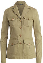Ralph Lauren Petite Boxy Cotton Canvas Jacket
