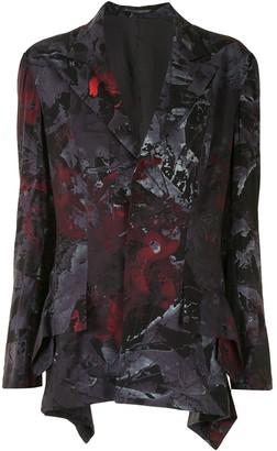 Yohji Yamamoto Abstract-Print Blazer