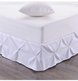 Sweet Home Collection Hudson Pintuck Ruffled Queen Bedskirt Bedding