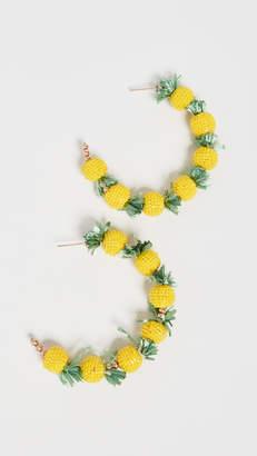 Kenneth Jay Lane Pineapple Hoops