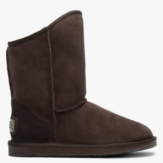 Australia Luxe Collective Cosy Brown Double Faced Sheepskin Ankle Boots