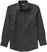 Murano Wardrobe Essentials Ultimate Modern Comfort Long-Sleeve Spread-Collar Textured Sportshirt