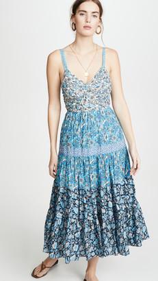 Rebecca Taylor Sleeveless Print Mix Dress