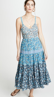 La Vie Rebecca Taylor Sleeveless Print Mix Dress