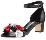Manolo Blahnik Laurfior Floral City Sandal