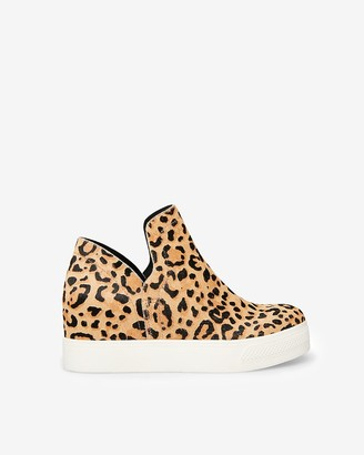 Express Steve Madden Leopard Calf Hair Wrangle Sneakers