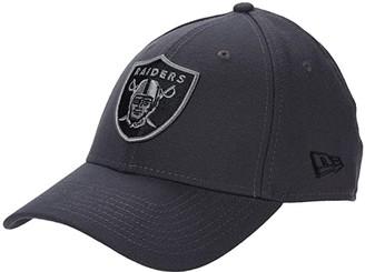 New Era NFL Stretch Fit Graphite 3930 -- Las Vegas Raiders (Graphite) Baseball Caps