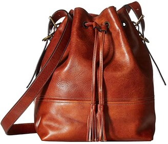 Bosca Dolce Large Bucket Bag (Amber) Handbags