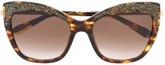 Blumarine Encrusted Cat-Eye Sunglasses