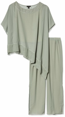 Le Bos Women's Poncho 2 pc Pant Set