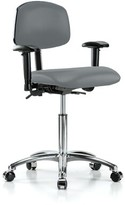 Multi Task Chair Perch Chairs & Stools Upholstery Color: Cinder Fabric