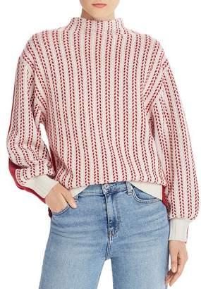Equipment Veleraine Wool-Blend Contrast Sweater
