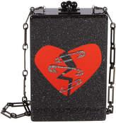 Edie Parker Carol Broken Heart Acrylic Clutch Bag with Chain