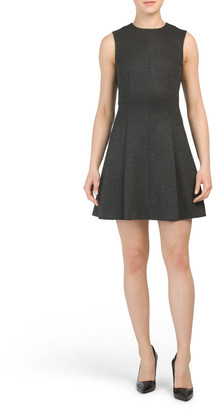 Melange Ponte Seamed Dress