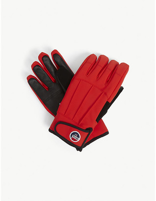 Fusalp Glacier leather and technical fabric gloves