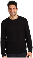 Calvin Klein Jeans Crew Neck Sweater (Solid Black) - Apparel