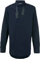Neil Barrett un-tied bow embroidered shirt