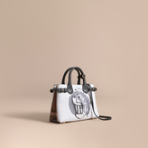 Burberry The Small Banner in Leather with Pallas Heads Print