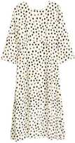 H&M Patterned Long Dress - Natural white/dotted - Ladies