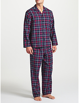 John Lewis Balheni Check Pyjamas, Blue/multi