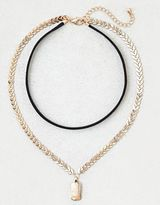 American Eagle Outfitters AE Chevron Chain Layered Necklace