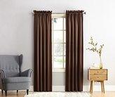 Sun Zero Barrow Energy Efficient Rod Pocket Curtain Panel, 54 x 84 Inch, Chocolate Brown